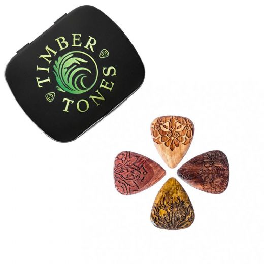 Mandala Tones Mixed Tin of 4 Guitar Picks